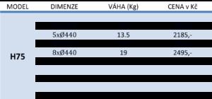 ceník H75